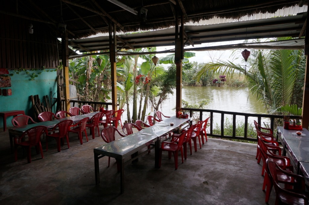 Riverside restaurant in Cam Nam