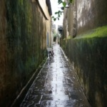 Small alleyway in Hoi An after the rain