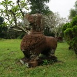 Dog statue at Tam Ky's Cham towers site