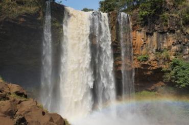 Close-up view of Phu Cuong waterfall