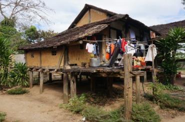 Stilt house in a Banhar village
