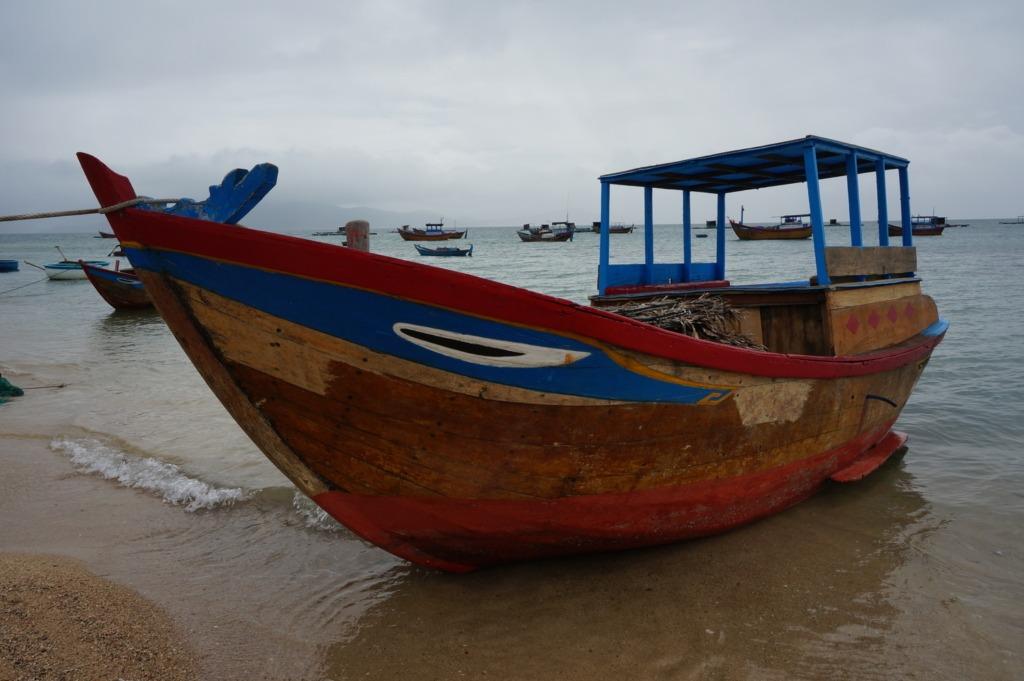 Vietnamese boat at Diep Son