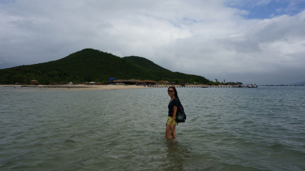 Thanh at Diep Son's sandbar