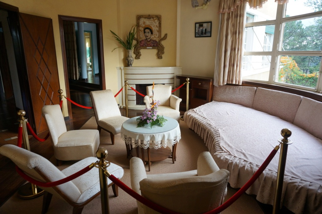 A room inside Bao Dai summer palace in Da Lat
