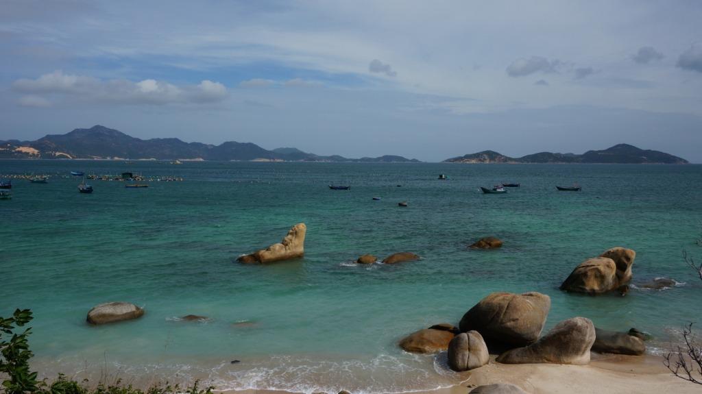 Beautiful coastal scenery at Cam Lap promontory