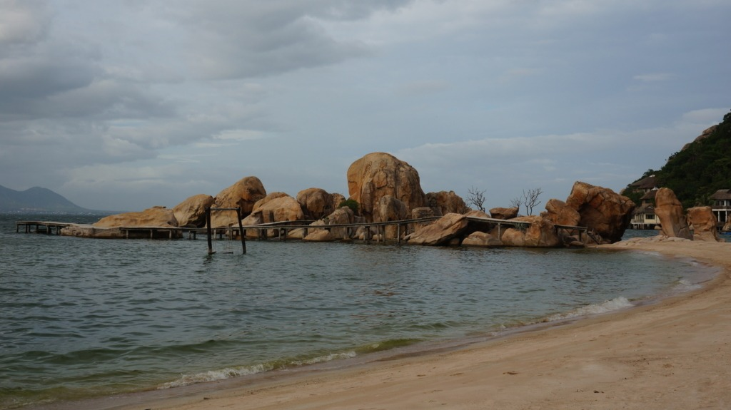 Huge boulders at Ngoc Suong resort