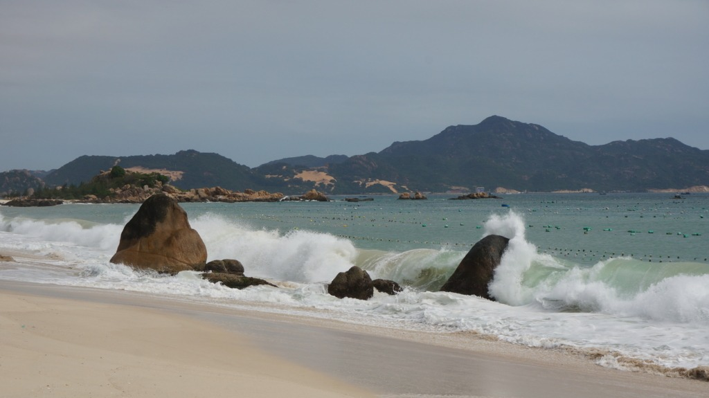 View from the beach at Dao Hoa Vang homestay