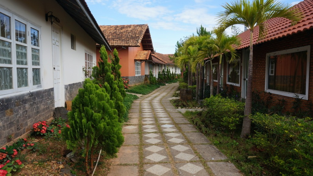 Some Vietnamese budget accommodations may have some charm, like these bungalows