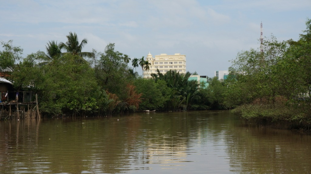 Ben Tre viewed from the river
