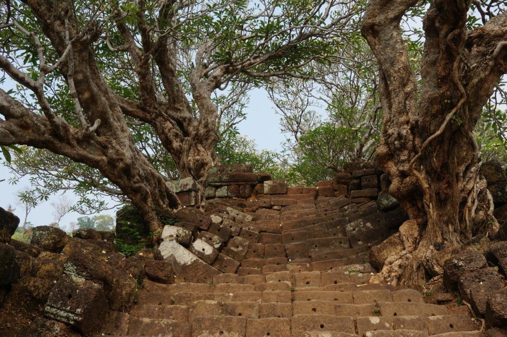 Wat Phu's impressive stairs