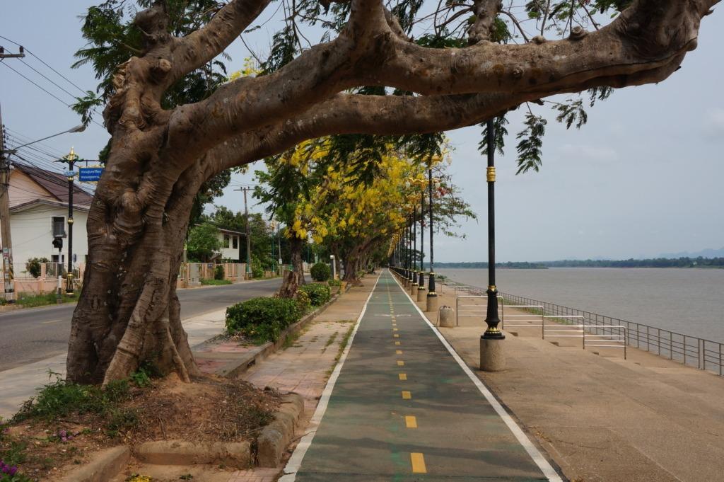 Nakhon Phanom's bike lane