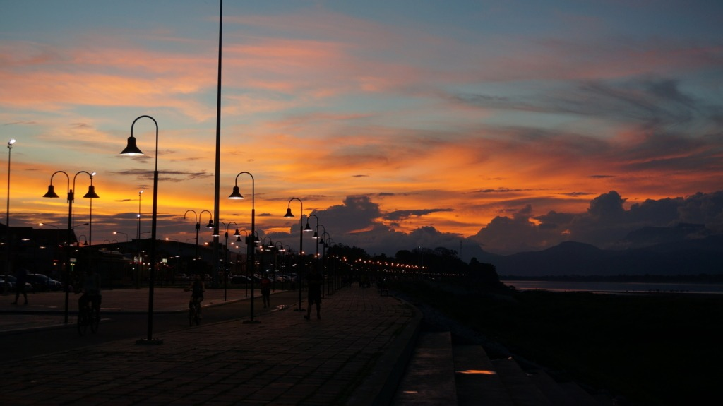 Crazy sunset in Bueng Kan